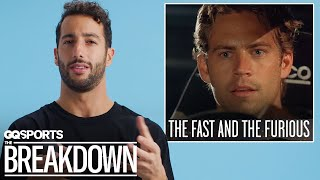 Formula 1 Driver Daniel Ricciardo Breaks Down Racing Movies   GQ Sports