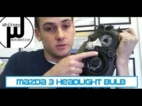 Mazda3 Headlight Bulb Replacement, how to prevent repeat failure. Getting the bulb in and out!