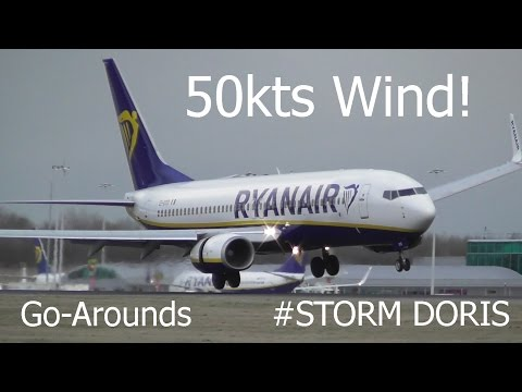 Storm Doris   Crazy Windshear & Go-Arounds at London Stansted Airport