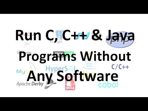 Run C, C++ & Java Programs Without Any Software