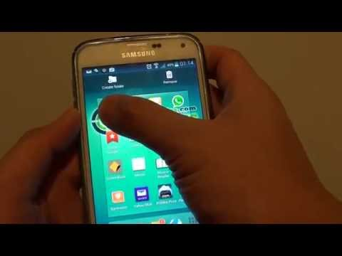 Samsung Galaxy S5: How to Move Apps Icon Into a Folder