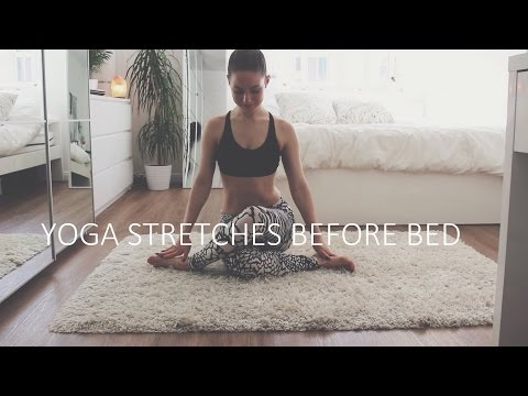Yoga Stretches Before Bed ❤ Relaxing & Easy Stretches To Calm Your Mind