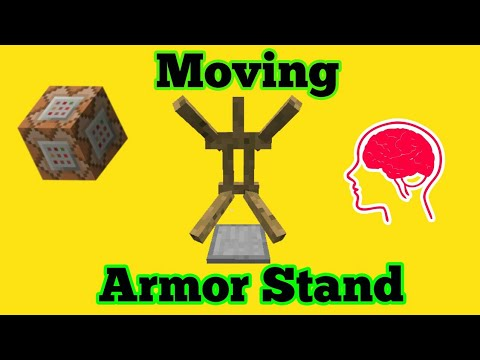 How to make a Moving Armor Stand with Command Blocks | Minecraft PE/Xbox One