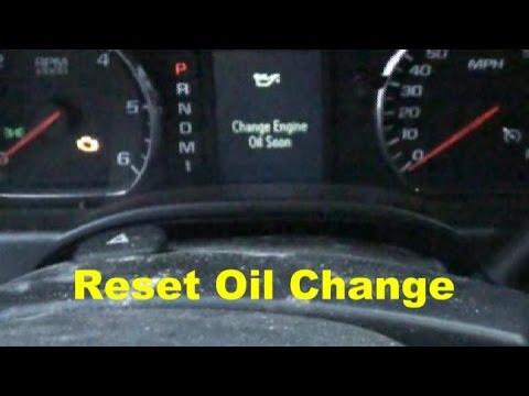 Reset Oil Change IDIOT LIGHT