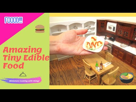 Miniature Cooking : Scallop  vegetable rhapsody - Real mini food edible cooking