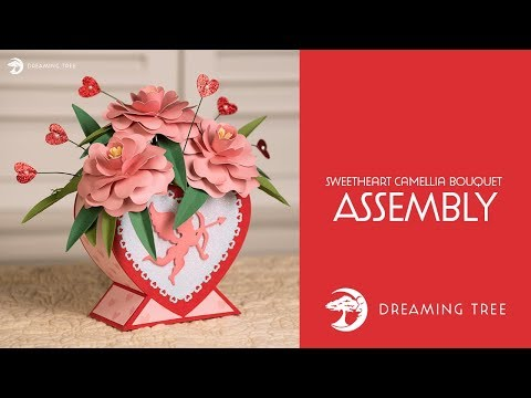 SVG File - Sweetheart Camellia Bouquet - Assembly Tutorial
