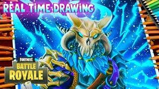 How To Draw Ragnarok Skin Fortnite Battle Royale Step By Step
