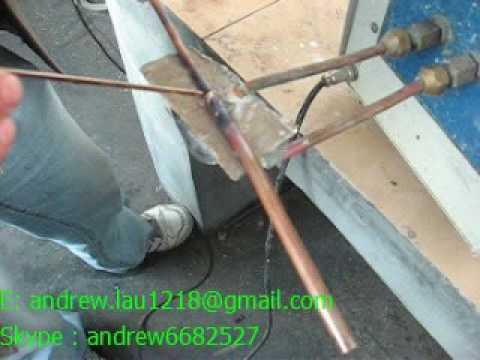 induction brazing machine for copper tube with diy induction coil copper pipe welding