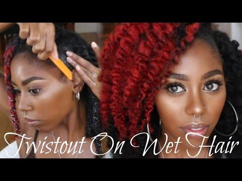 Twistout On Wet 4c Hair:||:Start To Finish