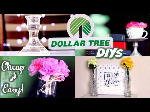 Dollar Store DIY ROOM DECOR - Cheap & Easy | SoCraftastic