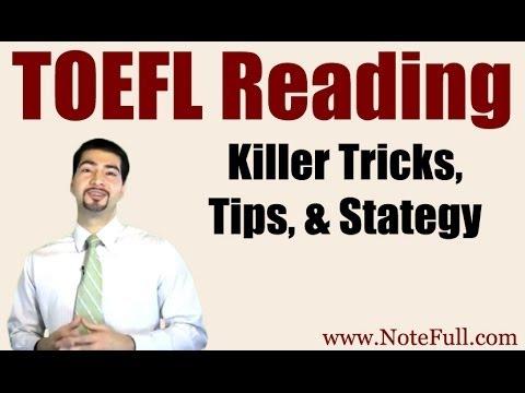 New, Killer TOEFL Reading Tricks, Tips, & Strategy from NoteFull