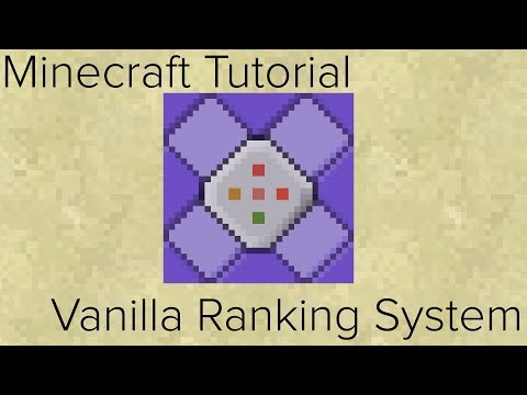 Minecraft 1.9-1.12.2 | Vanilla Ranking System With Default Team Tutorial [Easy]