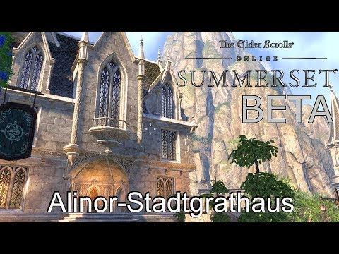 Summerset BETA 🏡 Besichtigung: Alinor Stadtgrathaus  🚪 The Elder Scrolls Online (P)