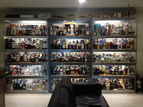 My Liquor Collection and Bar Video - Updated 2014