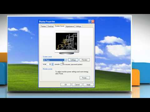 Windows® XP: How to set up a screensaver?