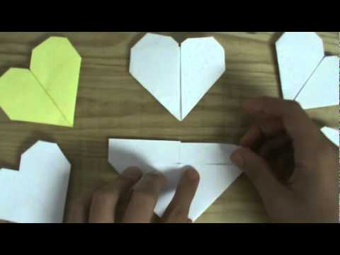 Origami Heart from a rectangle
