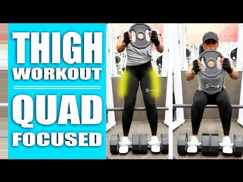 Thigh Workout - Best QUAD Focused Exercises At The Gym