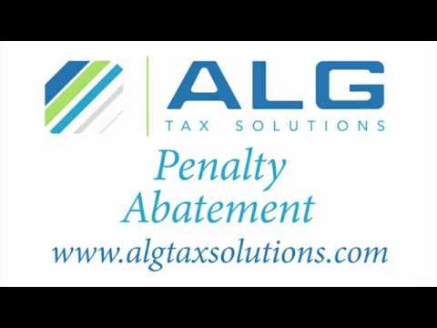 Remove IRS Penalty and Interest - ALG Tax Solutions