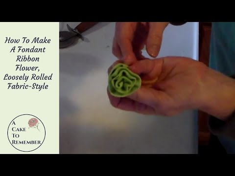 How to Make A Gumpaste Ribbon Rose. Cake decorating tutorial for a simple flower.