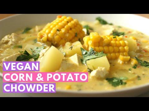 Vegan corn and potato chowder: Chupe!