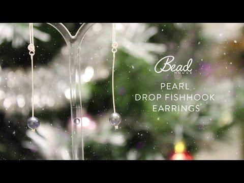Pearl Drop Fishhook Earrings - Bead House
