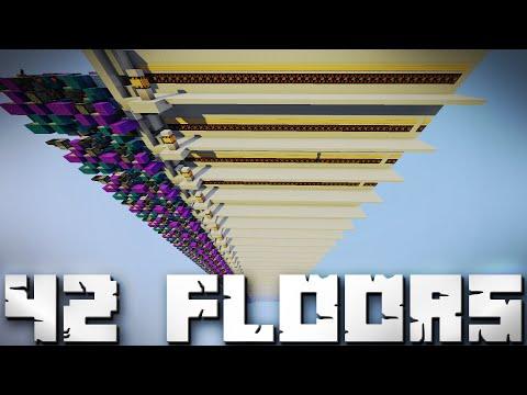 Minecraft Showcase : 42 Floor Fast Up & Down Piston Elevator