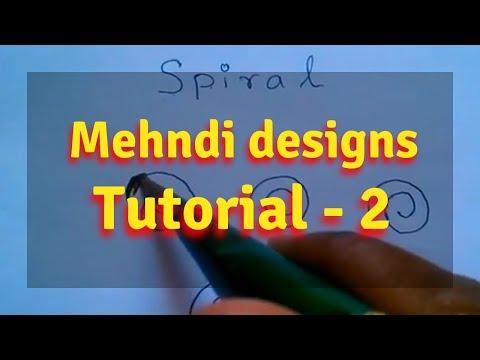 Learn mehndi basic design step by step for beginner -Tutorial 2