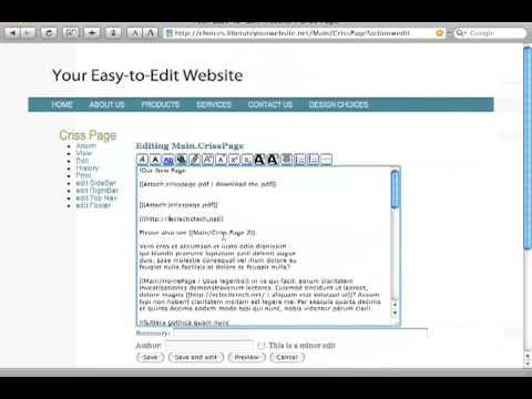 Easy to Edit Website: links with hidden words