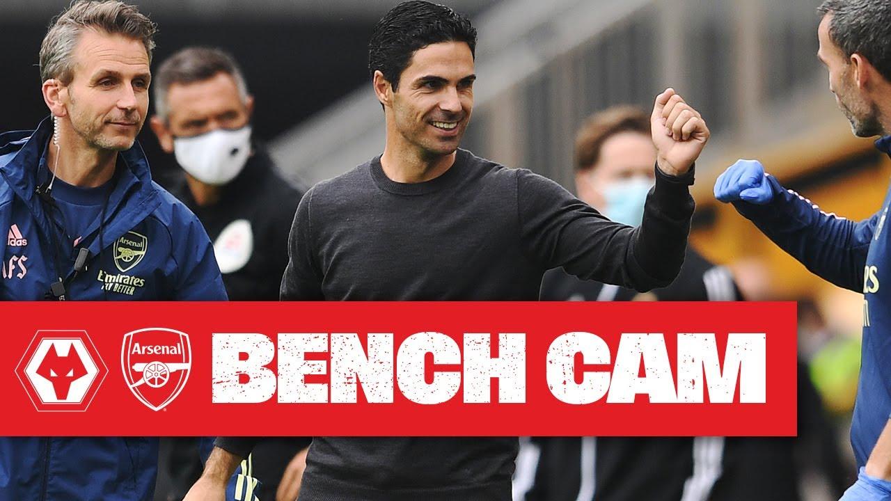 BENCH CAM | Wolves 0-2 Arsenal | Mikel Arteta | Premier League