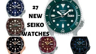 27 New Seiko Watches In 3 Minutes