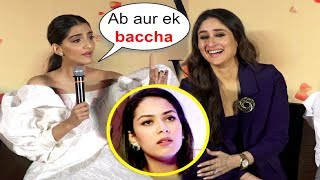 Sonam Kapoor Takes A Dig At Mira Rajput Pregnant Again At Veere Di Wedding Trailer Launch