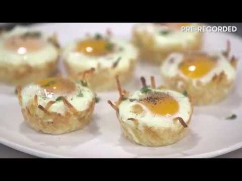 How to make quick and easy Egg Baskets! | Cooking Light