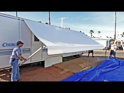 How To Replace an RV Patio Awning + New Fabric Discount