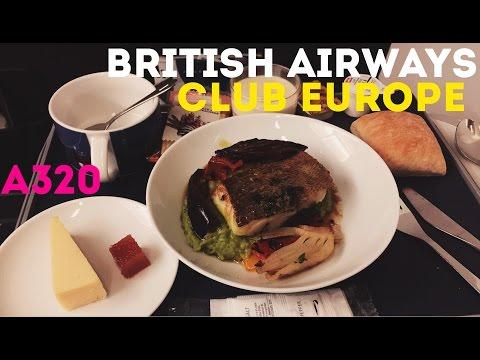 British Airways Business Class, Club Europe, A320 - Prague to London Heathrow