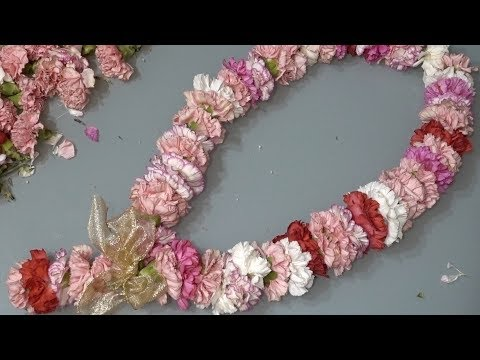 How to string a fresh flower garland