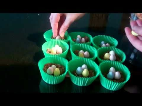 How to make Easter cakes - Chocolate Nests with Mini Eggs!