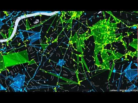 Ingress London 24hr time lapse   13 09 2015
