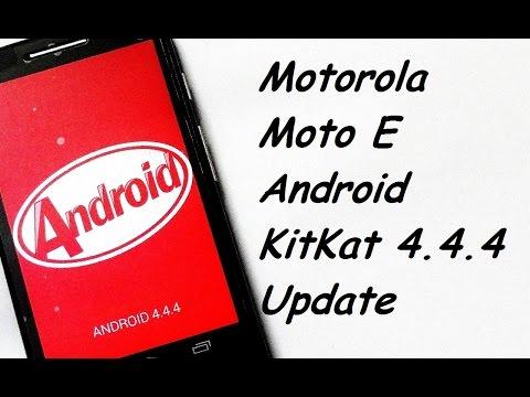 Motorola Moto E Android kitkat 4.4.4 Software Update