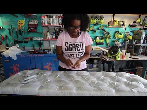 Upholstery Tufting Hack : How To  Do Diamond Tufting