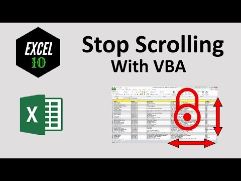 How to Lock Scroll Area in Excel with VBA