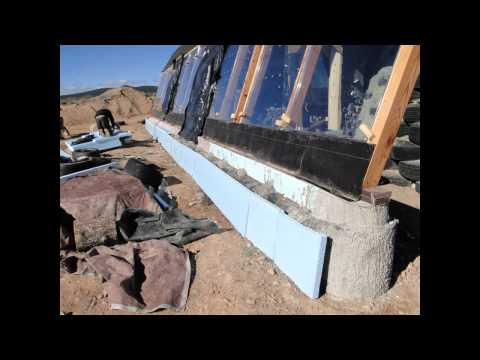 How to Build an Earthship's Front Face - Part III