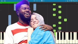how to play billie eilish lovely ft khalid piano slow easy