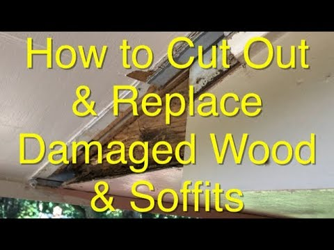 How to Cut Out & Replace Damaged Wood & Soffits