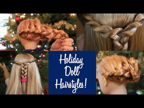 Holiday Hairstyles for your AG Doll! ❄ Dolliday 2015