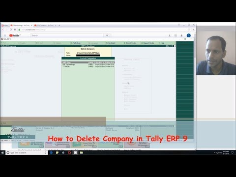 How to Delete Company in Tally ERP 9 | Easy Tutorials In Tally ERP - Hindi