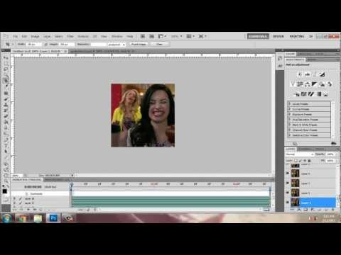 How to use actions on gifs in photoshop CS5 extended.