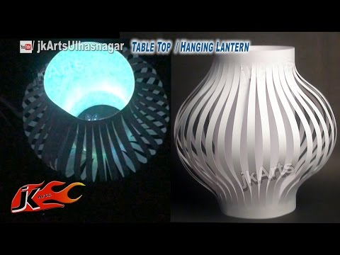 DIY Paper Lantern / Aakash Kandil Decoration | Table Top and Hanging | How to make | JK Arts 587