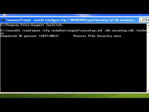 How to Reset Security Settings in Windows XP