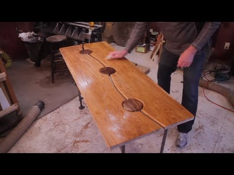 How To Build A Entry Table / Maple and Walnut Table / DIY Woodworking Projects