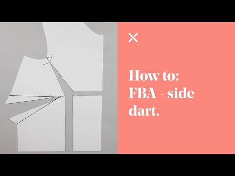 How To: Understand Basic FBA - 1 Dart Bodice (Full Bust Adjustment)